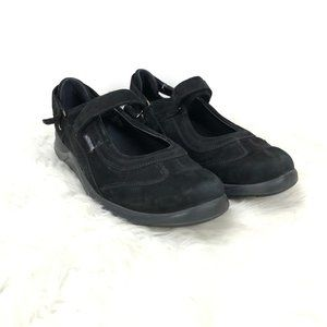 Mephisto Black Suede Mary Jane Comfort Shoes
